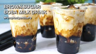 Brown Sugar Boba Milk Tea Recipe  |  Brown Sugar Tapioca Pearl Milk Tea  |  Tiger Sugar Milk Tea