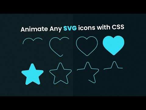 Animate Any SVG Icons With CSS Only | SVG Stroke Animation With Html CSS