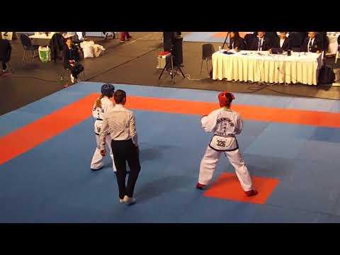 Nikolaeva Elena (RUS) V Kyriaki Paschalidou (GRE) - Female -62kg Sparring