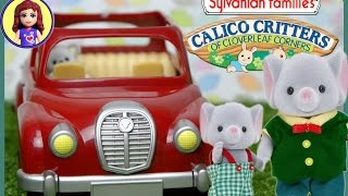 Sylvanian Families Calico Critters Red Saloon Car and Caravan Set - Unboxing the Car - Kids Toys