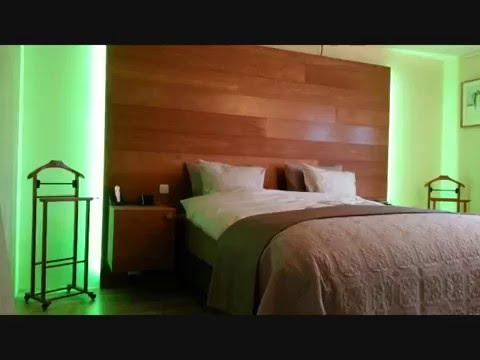 Hoofdbord van houten vloerdelen en LED verlichting  YouTube