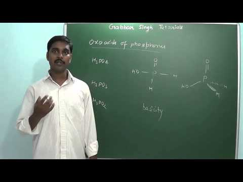 1.13 Phosphorus & its compounds (s and p block elements)
