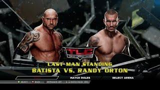 WWE 2K15 Universe - TLC - Randy Orton vs Batista - Last Man Standing Match (Xbox 360/PS3)