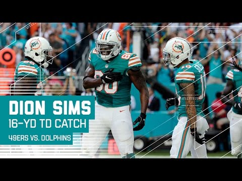 Ryan Tannehill Hits Dion Sims for a 16-Yard TD! | 49ers vs. Dolphins | NFL