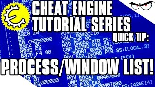 cheat Engine 6.4 Tutorial Quick Tip: Process List vs. Window List (How-To)