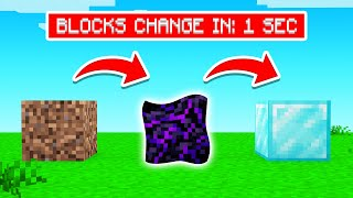 THE BLOCKS KEEP CHANGING In Minecraft!