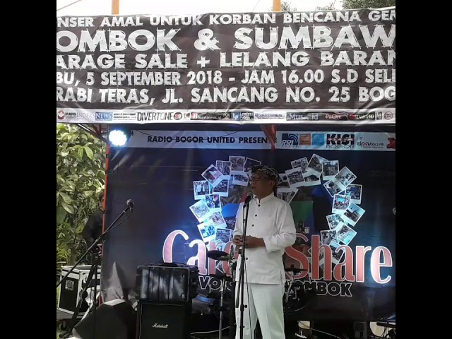 WaWalkot Bogor H.Usmar Lakukan Do'a bersama diacara Amal Peduli Korban Bencana Lombok & Sumbawa