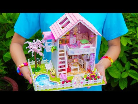 DIY Doll House With Pool