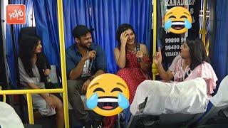 Sai dharam tej and Rasi Khana Hilarious Interview in Bus | Prathi Roju Pandage