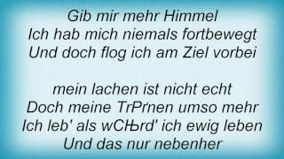 Rosenstolz - Gib Mir Mehr Himmel Lyrics