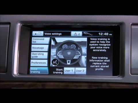how to operate the 2012 jaguar xf touch screen youtube