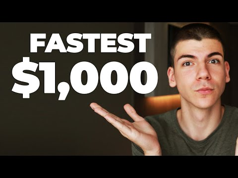 Easiest Way To Make Your First $1,000 Online | Full Make Money Online Tutorial