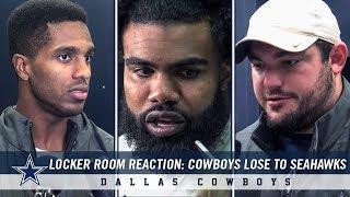 Byron Jones, Ezekiel Elliott, Zack Martin | Cowboys Lose To Seahawks | Dallas Cowboys 2018