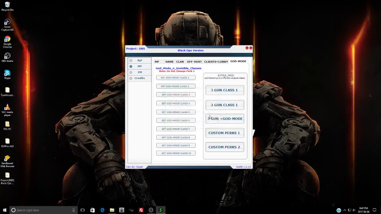 [BO1/1 13] Project: DBS New Black Ops RTM Tool W/ Force Host MP+ZM +  DOWNLOAD