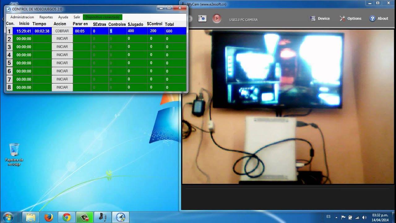 control de videojuegos software para sala de video juegos