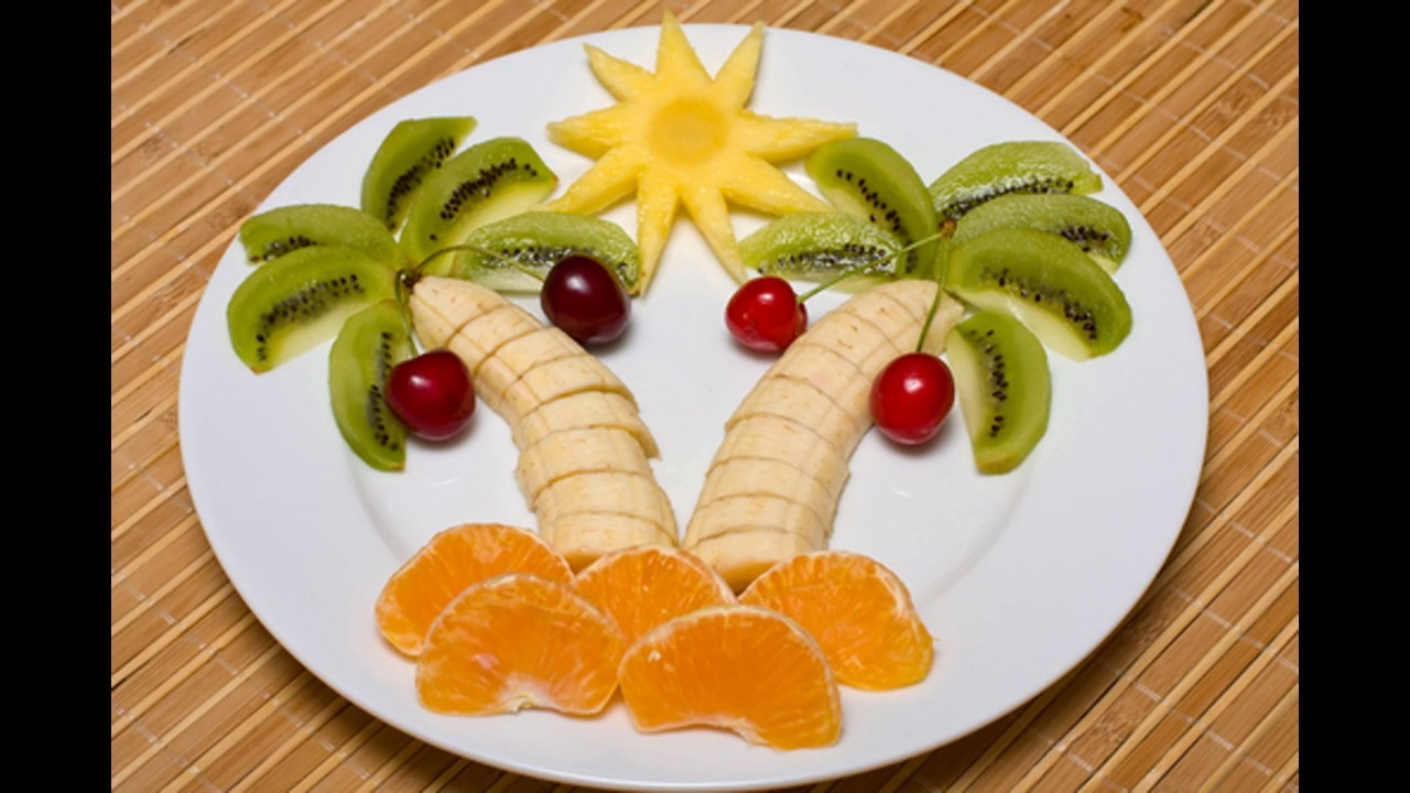 Fruit decoration in plate - YouTube