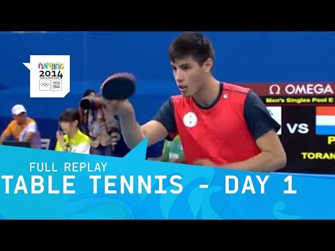 Table Tennis -  Mens and Womens Group Stages | Full Replay | Nanjing 2014 Youth Olympic Games