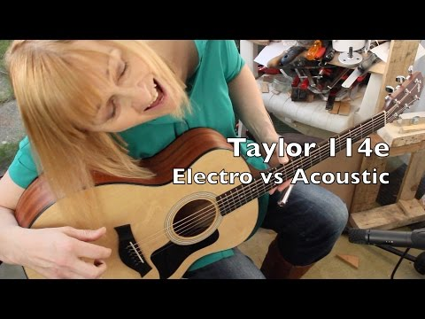 Taylor 114e: Comparison of acoustic and electro output