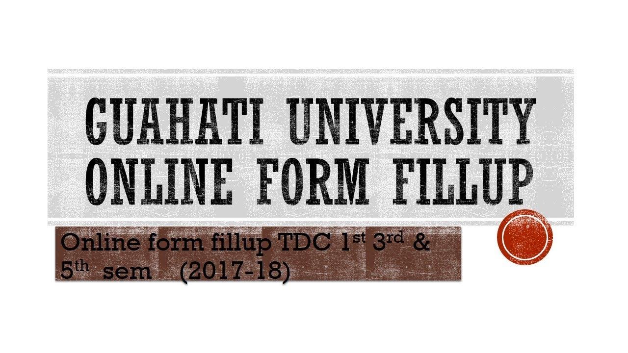 online examination form fill up gauhati university