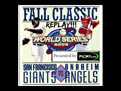BARRY BONDS IN THE WORLD SERIES???- HISTORY MAKER BASEBALL- 2002 WORLD SERIES REPLAY-ANGELS v GIANTS