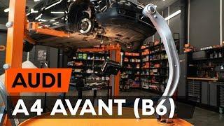 Kuinka vaihtaa etualatukivarsi / etutukivarsi AUDI A4 B6 (8E5) -merkkiseen autoon [AUTODOC]
