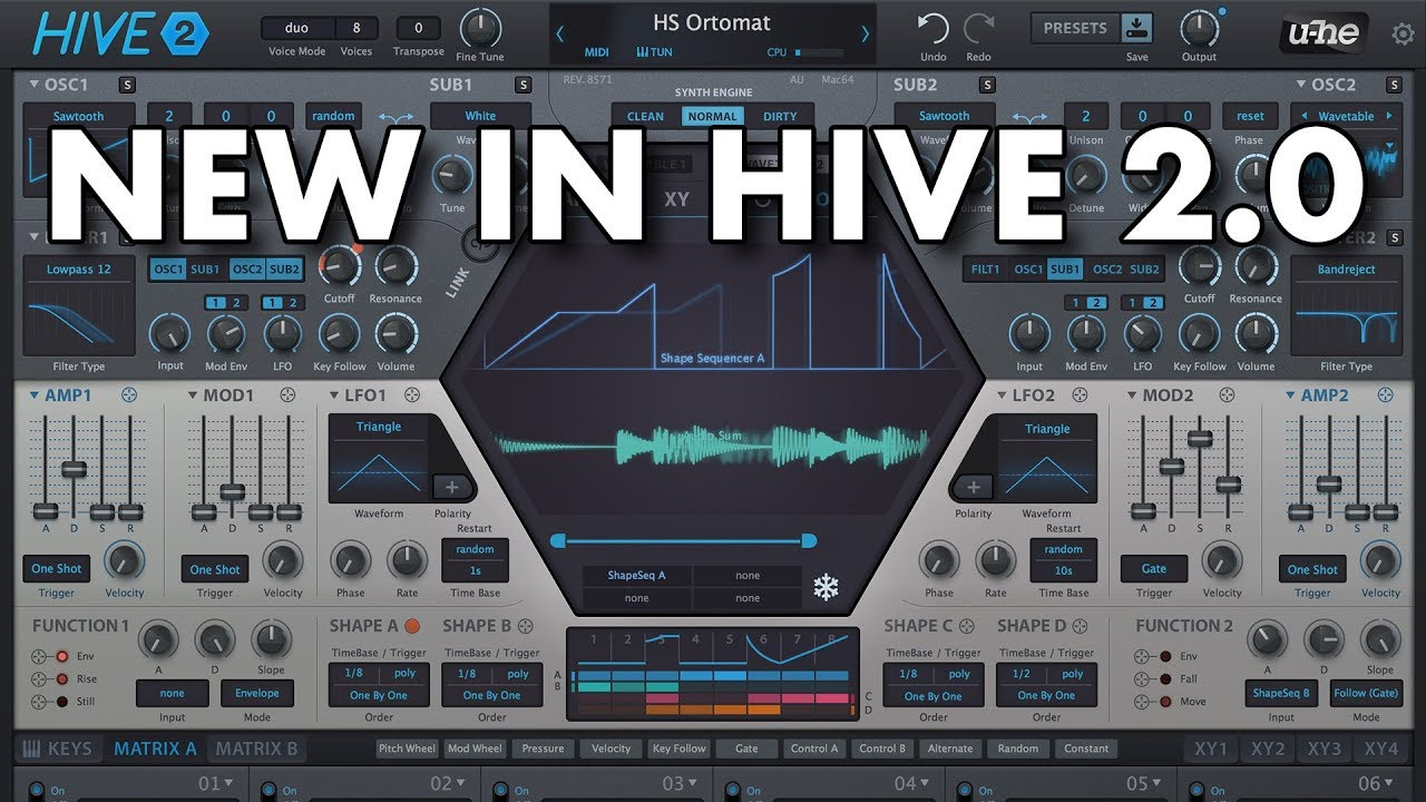 U-he HIVE 2 Out Now: More Modulation Power, New Interface & More