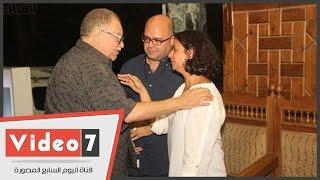يحيى الفخرانى والصريطى وريم ماجد فى عزاء المخرج محمد خان