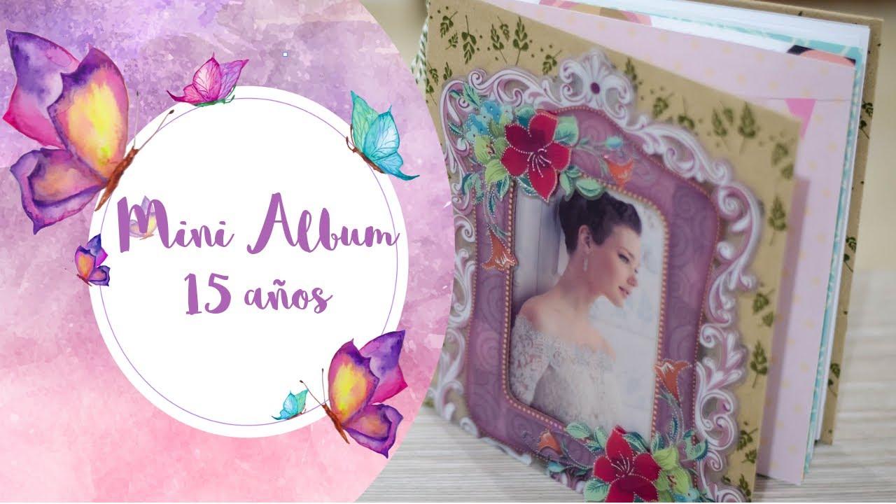 Mini Album De Fotos 15 Años Quinceañera Diy Scrapbook