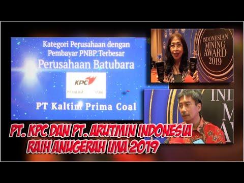 PT. KPC Dan PT. ARUTMIN Raih IMA Award 2019