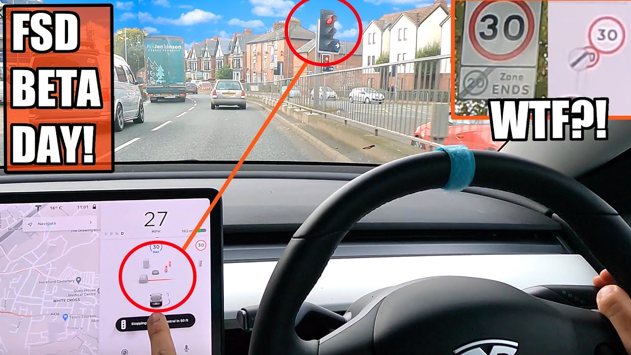 Can Full Self Drive BETA fix all these issues? | Tesla Autopilot UK City Driving