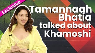 Tamannaah Bhatia Exclusive on upcoming horror movie Khamoshi with Parbhu Deva | Interview