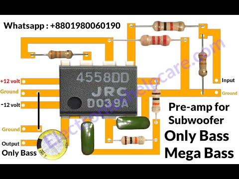 how-to-make-bass-circuit-diagram?-low-pass-filter-circuit-diagram,-100%-working,-electronics