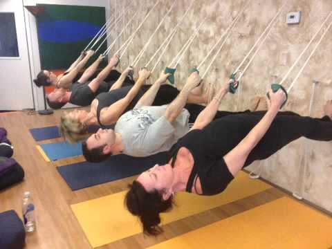 Ropes Wall Yoga - YouTube