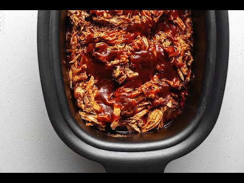 Crock Pot Pork Loin - BBQ Pulled Pork