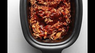 Crock Pot Pork Loin - BBQ Pulled Pork