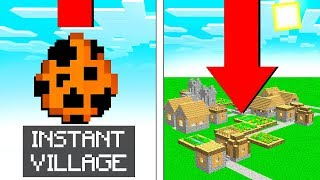 SPAWN INSTANT VILLAGES in MCPE! (Minecraft Addon Mod)