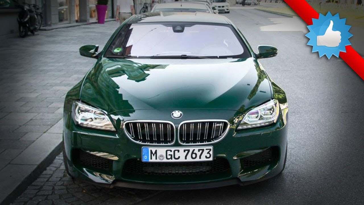 Bmw M6 Gran Coupe With Green Paint Special Color Youtube