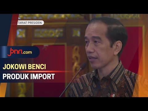 Jokowi Prihatin Etalase di Depan Mal Pajang Banyak Produk Impor