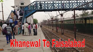Traveling Pakistan By Train Khanewal To Faisalabad Train Route Journey