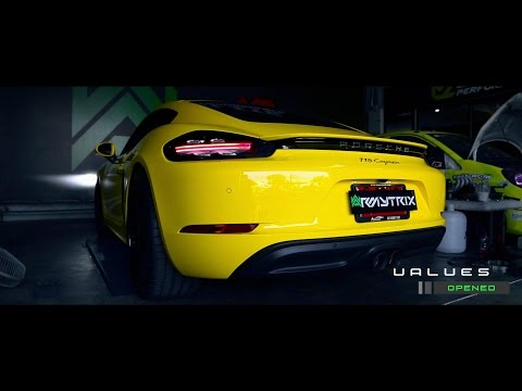Porsche 718 Cayman S w/ Armytrix Decat Valvetronic Exhaust By Hitzproject