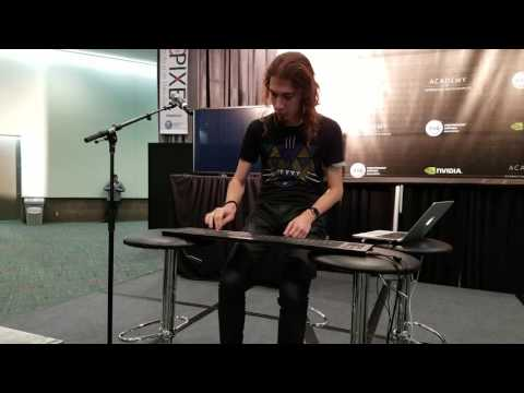 Insanely talented musician at E3 playing the ROLI Seaboard Rise