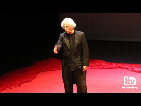 VÍDEO: El Brujo pasea a los clásicos del Siglo de Oro por el escenario del Auditorio de Lucena