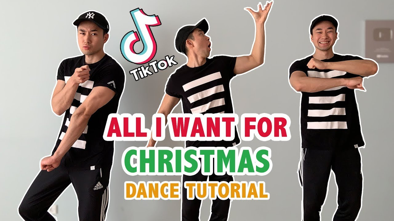 All I Want For Christmas Is You Dance Soulja Boy Tik Tok Step By Step Tutorial Youtube