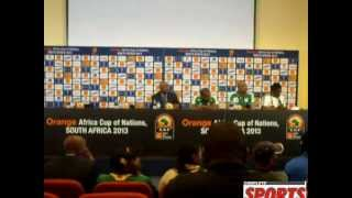 Press conference at the mixed zone after Eagles - Zambia draw