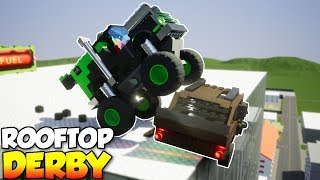 ROOFTOP SUMO DERBY! - Brick Rigs Multiplayer Gameplay & Challenge