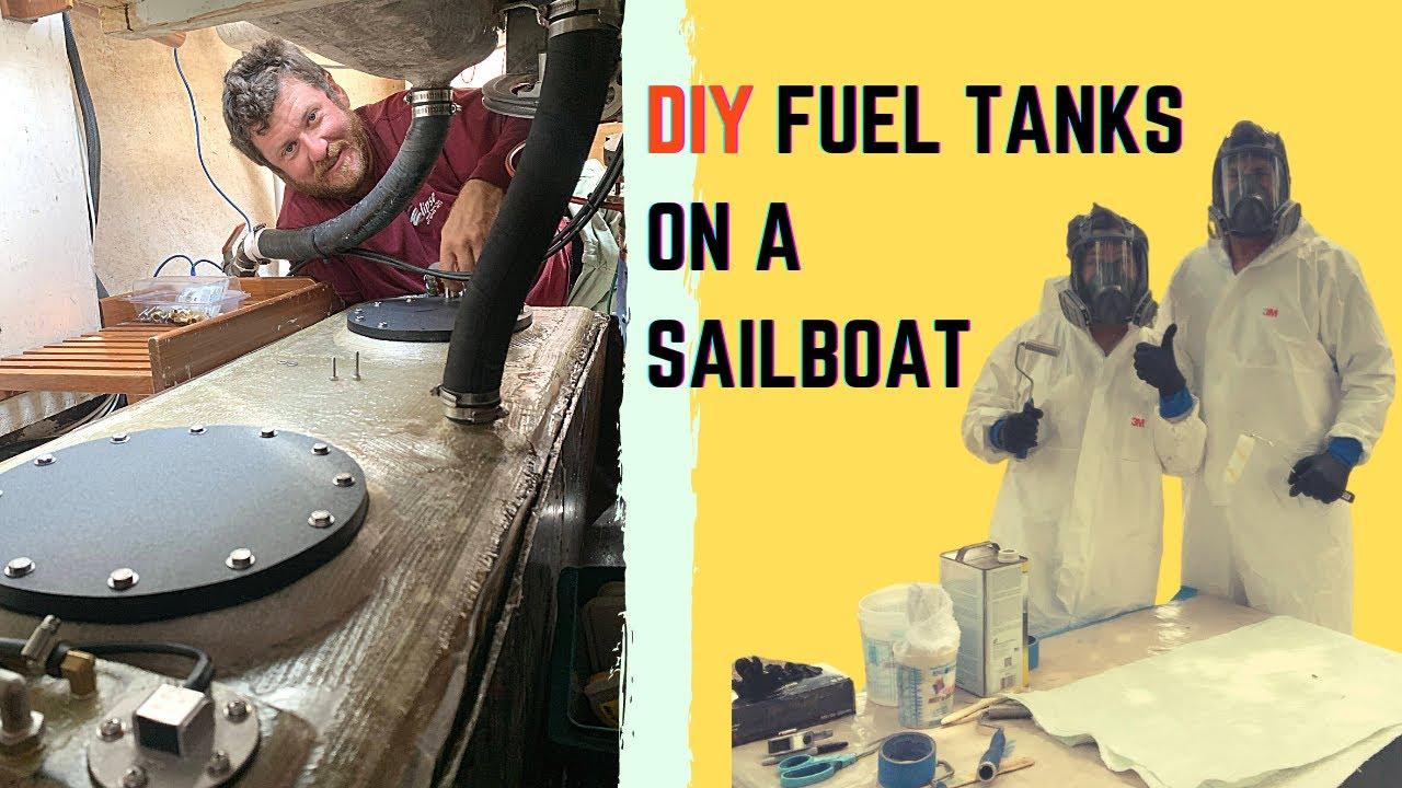 EP 28. HOW-TO: Sailboat DIY Fuel Tanks - Sailboat Fiberglassing | Two the Horizon