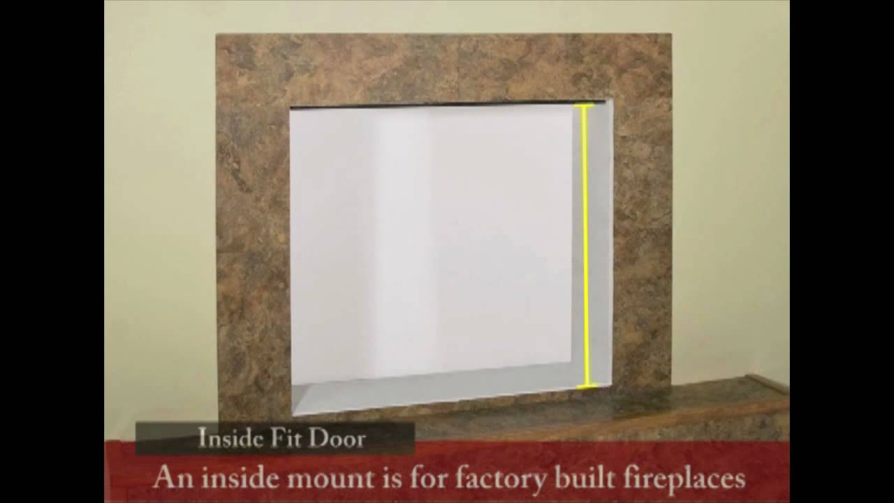 How To Measure For Factory Built Fireplace Glass Doors Youtube