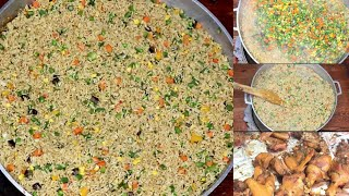 Nigerian Fried Rice | Party Fried Rice For 20 People.