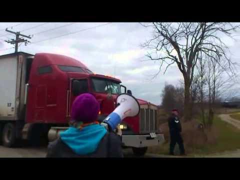 Anti-Fur Demonstration at Ontario Fur Farm