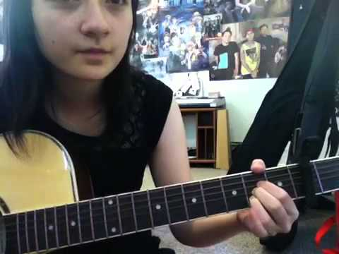 Going Away To College tutorial acoustic guitar (by Blink 18
